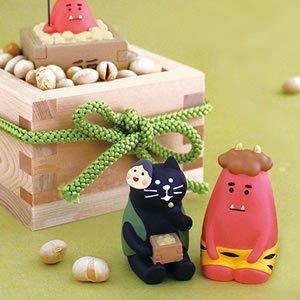 デコレ(DECOLE)コンコンブル 豆好き黒猫【節分/置物】