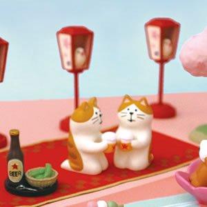 デコレ(DECOLE)コンコンブル とら猫ビール【お花見/置物】