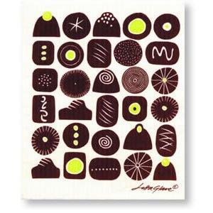 スポンジワイプ チョコレート BR 17×20cm 【北欧雑貨/キッチン雑貨】