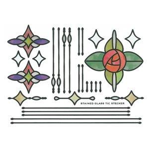 デコレ(DECOLE)ステンドグラス ステッカー 窓【インテリア雑貨】