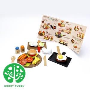 ウッディプッディ はじめてのおままごと 洋食屋さんセット【おもちゃ/キッズ/ギフト】