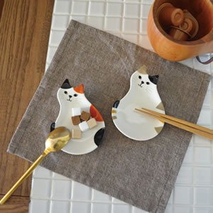 デコレ(DECOLE)豆皿箸置き【猫/キッチン雑貨】
