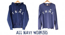 All Navy Workers - Sweat Parka & Tee