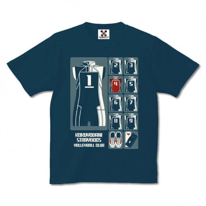 漫画「少女ファイト」公式Tシャツ『Uniform Icon』/spiker slate