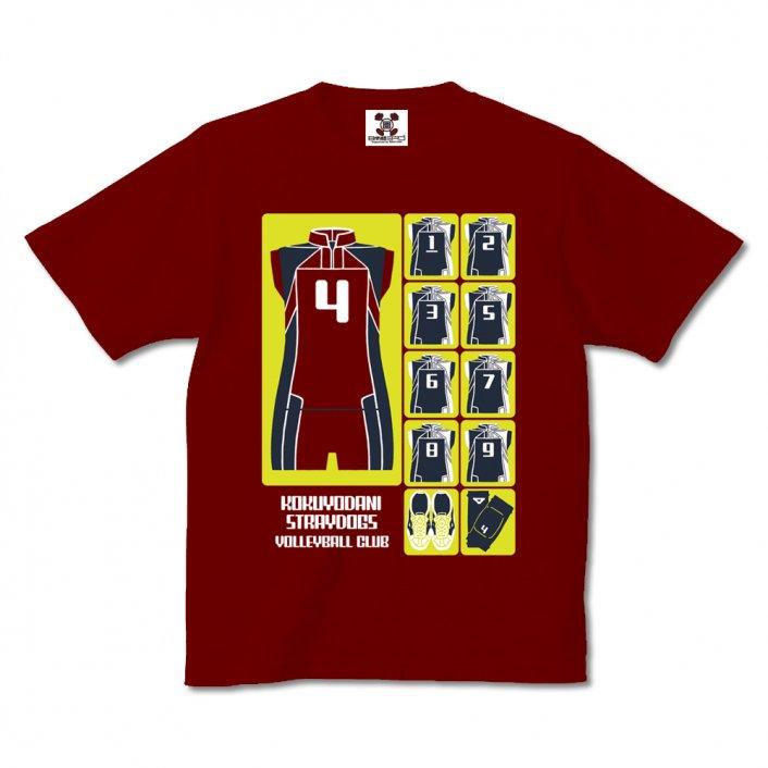 漫画「少女ファイト」公式Tシャツ『Uniform Icon』/libero red