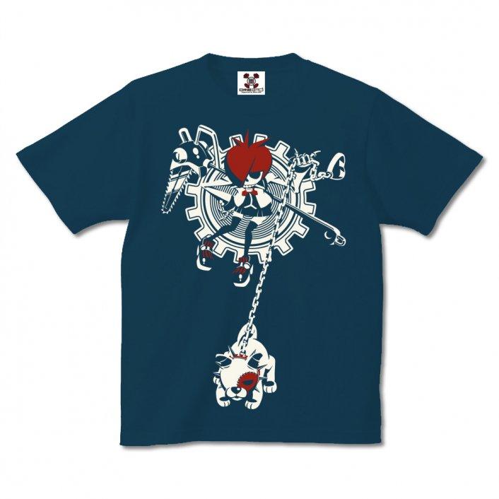漫画「少女ファイト」公式Tシャツ『蓮ドクロちゃん』※5.6オンス通常ボディのセール適用品