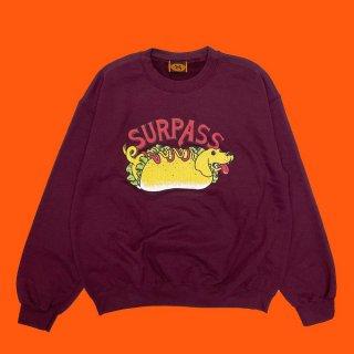 Surpass Hotdogg -  Dachshund Sausage Crew Neck (Designed by Yu Suda)