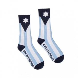 4 WORTH DOING Flag Socks<img class='new_mark_img2' src='https://img.shop-pro.jp/img/new/icons5.gif' style='border:none;display:inline;margin:0px;padding:0px;width:auto;' />