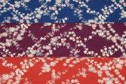 ジャガード織小花