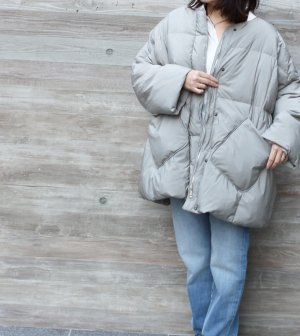 <img class='new_mark_img1' src='https://img.shop-pro.jp/img/new/icons1.gif' style='border:none;display:inline;margin:0px;padding:0px;width:auto;' />再入荷!!Duck down Quilt Jacket 【Gray】