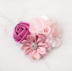 SATIN POM ヘッドドレス PinkFuchsia