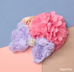 POMPOMRIBON ヘッドドレス Pink