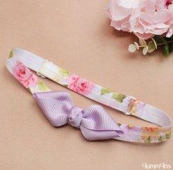 ヘアボウヘアバンド Flower Lilac