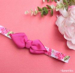 ヘアボウヘアバンド Flower RosePink