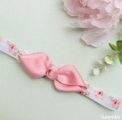 ヘアボウヘアバンド Flower Vintagepink