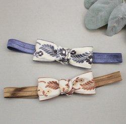 フローラル刺繍リボンヘアバンド