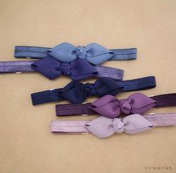 ヘアボウヘアバンド Navy-Purple