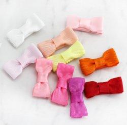 ミニブティックリボンヘアクリップ-Pink