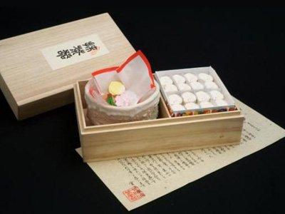 「抹茶器」 干菓子詰合せ(木箱入)