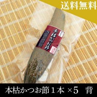 【送料無料】本枯かつお節1本×5 背