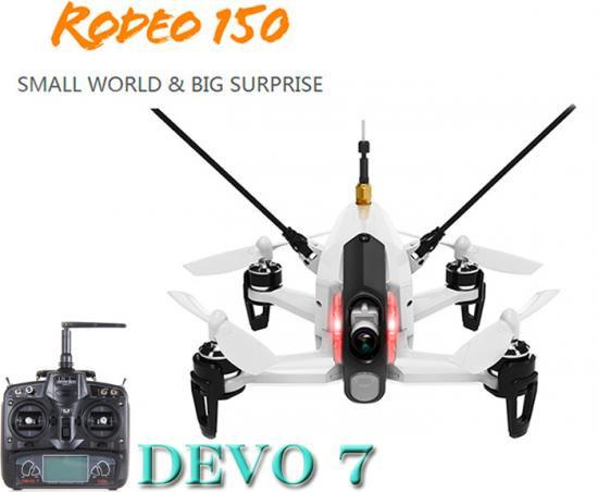 Walkera  Rodeo 150 白 (DEVO用)new-ver +DEVO7 (7ch プロポ)
