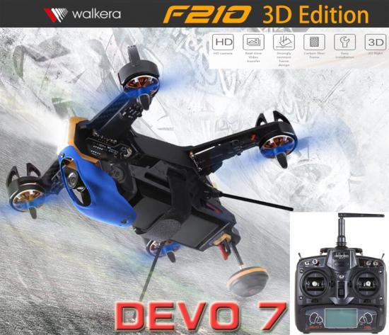 セール特価Walkera  F210 3D EDITION (DEVO用)+DEVO7 (7ch プロポ)   HDカメラ/OSD/バッテリー/チャージャー/日本語マニュア…