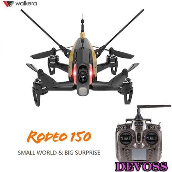 セール特価Walkera  Rodeo 150 黒 (DEVO用)new-ver  +DEVO8S (8ch プロポ)  カメラ/バッテリー/チャージャー/日本語マニュア…