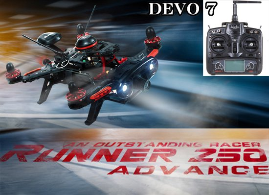 セール特価Walkera Runner 250 Advance (DEVO用) + DEVO7 (7ch プロポ)