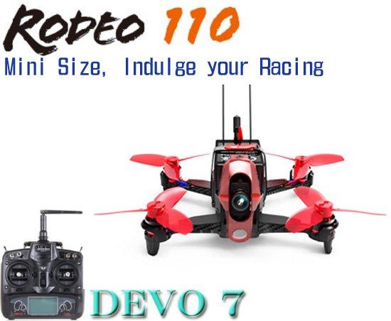 アウトレット(箱凹み) Walkera  Rodeo 110  (DEVO用)+DEVO7 (7ch プロポ)