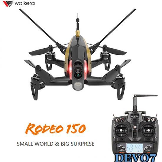 サマーセール特価! Walkera  Rodeo 150 黒 (DEVO用)new-ver  +DEVO7 (7ch プロポ)