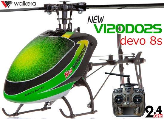 サマーセール特価! WALKERA NEW V120D02S 6CH グリーン (DEVO用) + DEVO8S (8ch プロポ)