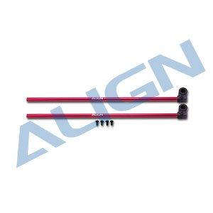 テールブーム 赤 /H15T002XRW 150 Tail Boom-Red(T-REX 150用)