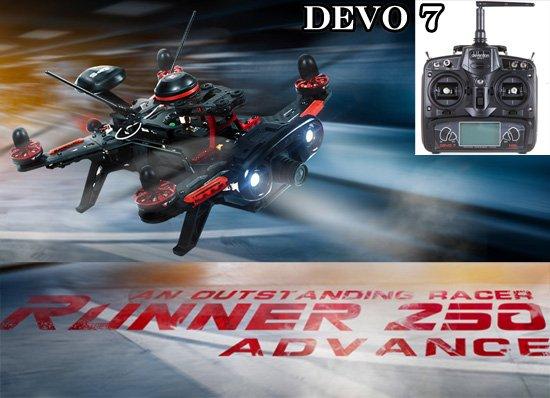 セール特価Walkera Runner 250 Advance (DEVO用) + DEVO7 (7ch プロポ) + Z-33 Backpack (sponge excluded)サー…