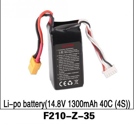 Walkera (F210-Z-35) Li-Po Battery (14.8V 1300mAh 40C 4S) ×1