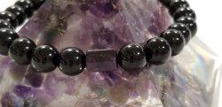 セーフスポットmen's 17センチロシア産モリオン(黒水晶)スギライトチューブ型AA