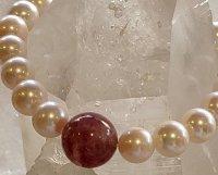 10月20%オフ アコヤ真珠とピンクトルマリンブレスレット(1本限定)