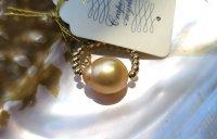 南洋バロックゴールドパール(大玉約13ミリ)のリング