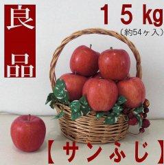 りんご【サンふじ】 良品15kg(約54ヶ入) 送料無料