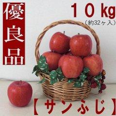 りんご【サンふじ】優良品10kg(約32ヶ入) 送料無料