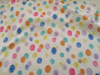 綿麻キャンバス Drops 110cm巾