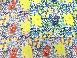 綿麻キャンバス K.A.E kanamorikae 型染め コットンリネン 巾110cm