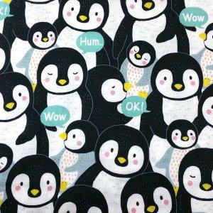 やわらかダブルガーゼ BIG ANIMAL ペンギン柄 KOKKA LOA46050-2A