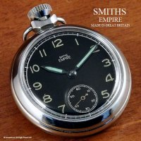 1960年代 SMITHS EMPIRE/スミス エンパイア 懐中時計 SV/BK