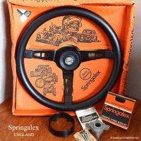 希少!デッドストック Springalex Steering Wheel Full Set/ スプリンガレックス ステアリング 48スプライン ミニ用 フルセット