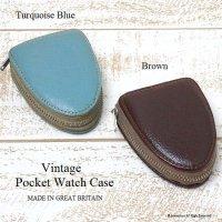英国 1960-70's Vintage Pocket Watch Case/懐中時計 レザーカバーケース