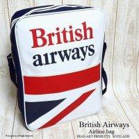 1970's British Airways Airline bag shoulder UJ NOS/エアライン ユニオンジャック ショルダーバッグ デッドストック未使用
