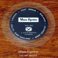 英国製 Mann Egerton  タックスディスク ホルダー