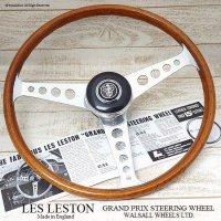 貴重!当時物 LES LESTON GP/レスレストン グランプリ ウッド ステアリング フルセット 48スプライン ミニ用