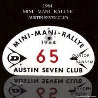 貴重!1964年 AUSTIN SEVEN CLUB MINI-MANI-RALLYE PLATE/オースチンセブンクラブ ラリープレート