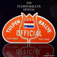 貴重!1958年 TULPEN RALLYE PLATE OFFICIAL/チューリップラリー ラリープレート オフィシャル